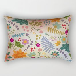 Floral Dance Rectangular Pillow