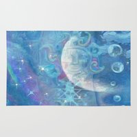 celestial Area & Throw Rugs featuring Celestial by Geni