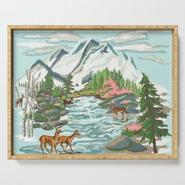 Paint by Number Mountain Medow Serving Tray