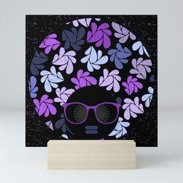 Afro Diva Purple Mini Art Print