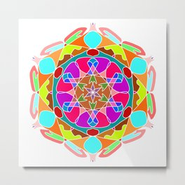 Beautiful Mandala Ornament Metal Print
