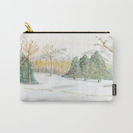 Winter Still Carry-All Pouch