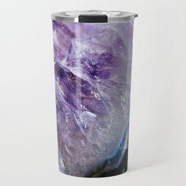 Purple Amathyst Cluster Travel Mug