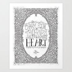 TENDERNESS OF HEART Art Print