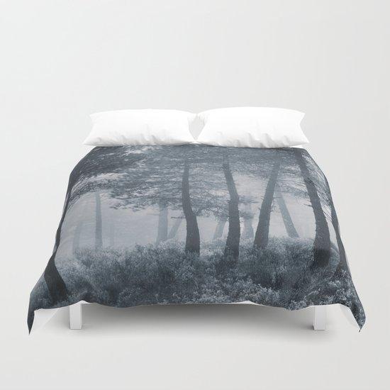Mistery forest. Retro Duvet Cover