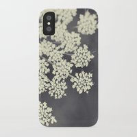 flora iPhone & iPod Cases featuring Black and White Queen Annes Lace by Erin Johnson