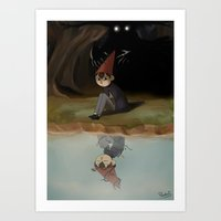 over the garden wall Art Prints featuring Over the garden wall by Peetsj