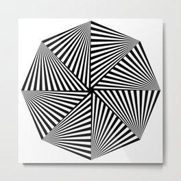 Octagon Dizziness 23 Stripes Metal Print