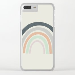 Abstract Rainbow Clear iPhone Case