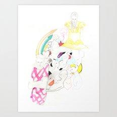 Whe love Fashion 3 Art Print