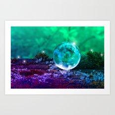 COLLECTION »CRYSTAL BALL«   Tiny Universe Art Print