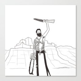 Hail to the Beard, baby Canvas Print