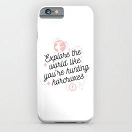 Magic cute Explore The World iPhone Case