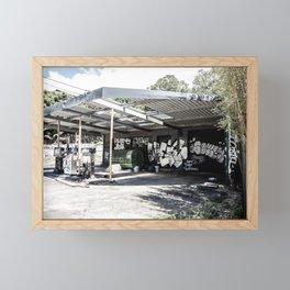 Abandoned Gas Station. Sydney. Australia. Framed Mini Art Print