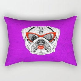 Lady Pug Rectangular Pillow