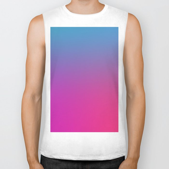 WIZARDS CURSE - Minimal Plain Soft Mood Color Blend Prints Biker Tank