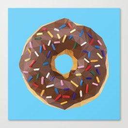 Low Poly Sprinkle Donut Canvas Print