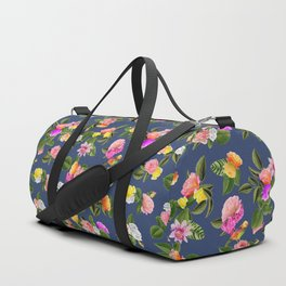 Frida Floral (Blue) Duffle Bag