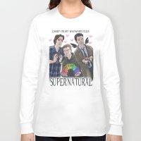 enerjax Long Sleeve T-shirts featuring Carry on my Wayward Feels by enerjax