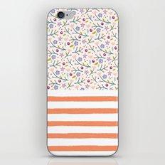 Flowers & Stripes iPhone & iPod Skin
