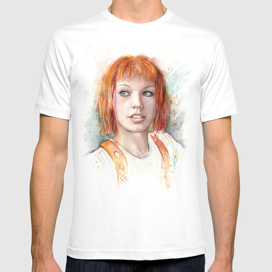 Leeloo Portrait Fifth Element Art T-shirt