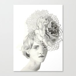 Emma in Bloom Canvas Print