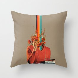 Musicolor Throw Pillow
