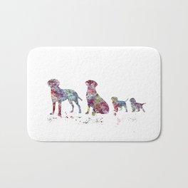 Labrador family Bath Mat