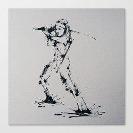Splaaash Series - Michonne Ink Canvas Print