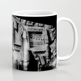 Antique Rome, black white columns, structure, city walls, abstract Coffee Mug