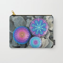 Blue and purple mandala stones Carry-All Pouch