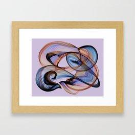 Bird Flame Purple Framed Art Print