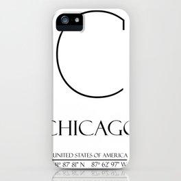CHICAGO City Gps Coordinates iPhone Case