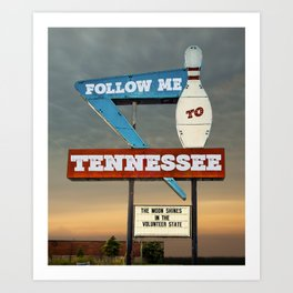 Follow Me To Tennessee Art Print