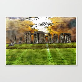 Henge at Sunsleep - Stonehenge Canvas Print