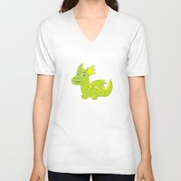 dino V-neck T-shirts featuring Dino by Hagu