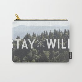 Stay Wild - Mountain Pines Carry-All Pouch