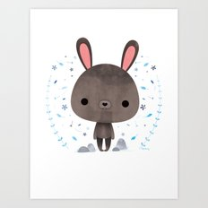 Amami rabbit Art Print