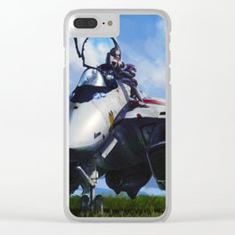 Macross UN Spacy Clear iPhone Case