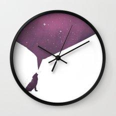 wolf song Wall Clock