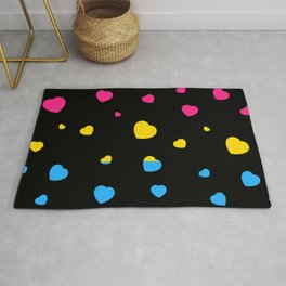 Chaotic Hearts, Pride Flag Series: Pansexual Rug