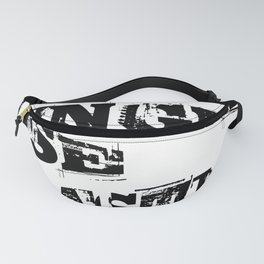 No Single Use Plastic EcoFriendly Recycle Quote Fanny Pack