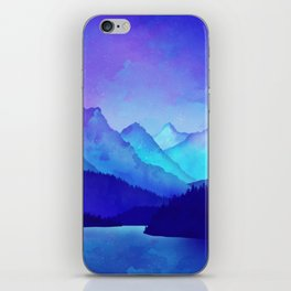 Cerulean Blue Mountains iPhone Skin