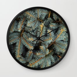 Evergreen Tree Pattern (Color) Wall Clock