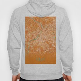 Lille, France, Gold, Blue, City, Map Hoody