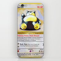 snorlax iPhone & iPod Skins featuring Snorlax Card by Neon Monsters