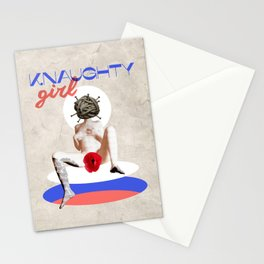 Naughty Girl Erotic Retro Vintage Collage Nude Woman Stationery Cards