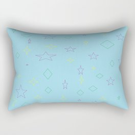 AOP Blue Rectangular Pillow