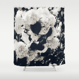 High Contrast Black and White Snowballs Shower Curtain