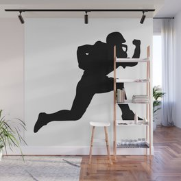 Classic American Football Pattern Silhouettes Wall Mural
